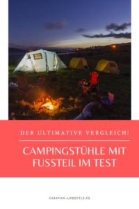 Campingstühle mit Fußteil im Test