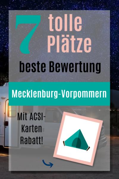 Campingplätze Mecklenburg-Vorpommern