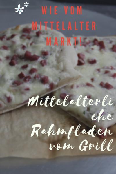 Mittelalterliche Rahmfladen vom Grill